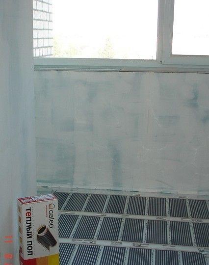 Электрический теплый пол на балконе - компания крепость, г. .